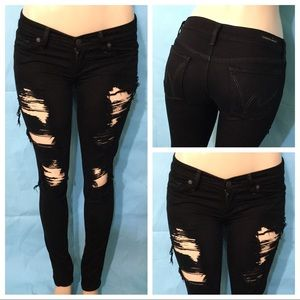 Citizens Of Humanity Black Ripped Skinny Sz 26